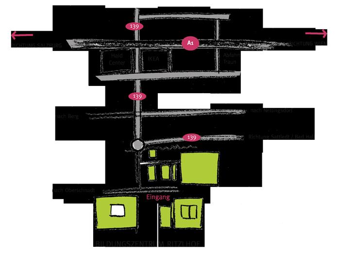 Anfahrtsplan zum Bildungszentrum Ritzlhof